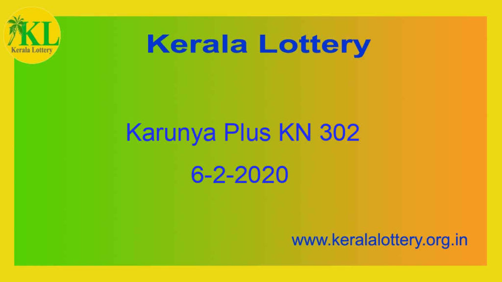 6-2-2020 Karunya Plus KN 302 Result Today