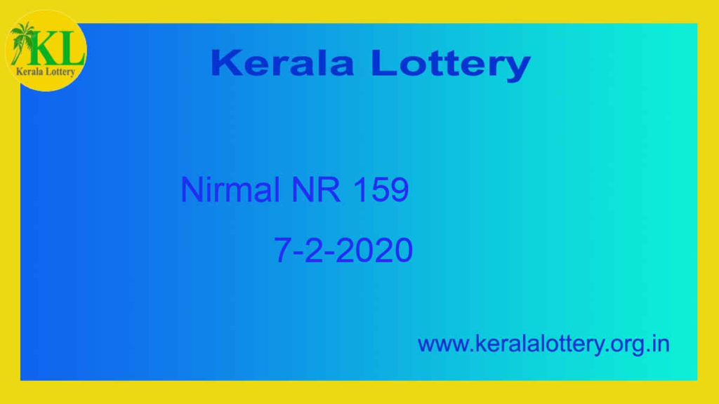 7.2.2020 Nirmal Lottery NR 159 Result