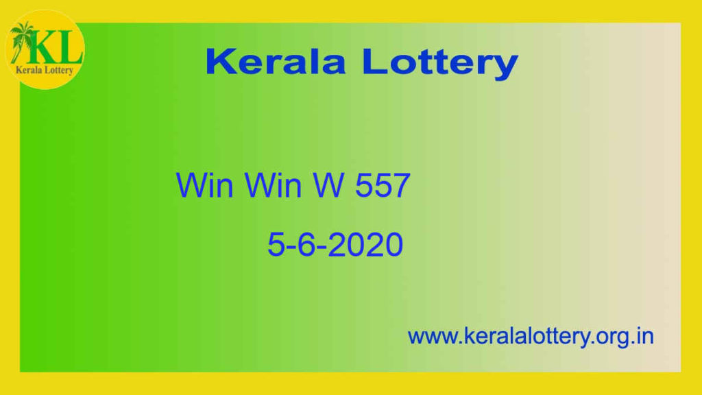 Win Win Lottery W 557 Result 5.6.2020