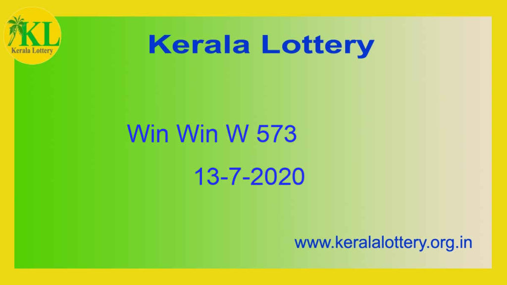 Win Win Lottery W 573 Result 13.7.2020