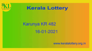 {Live} 16.01.2021 : Karunya Lottery Result KR 482 (Out @ 3pm) - Kerala Lottery